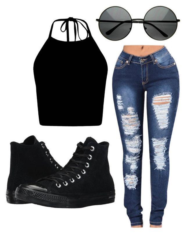 """""""Untitled #219"""" by mburghardt on Polyvore featuring Converse"""
