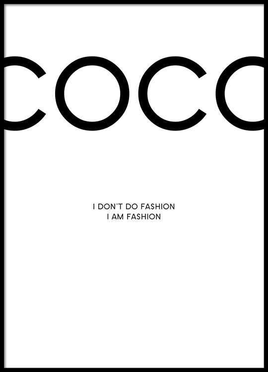 Fashionable Coco Chanel poster.