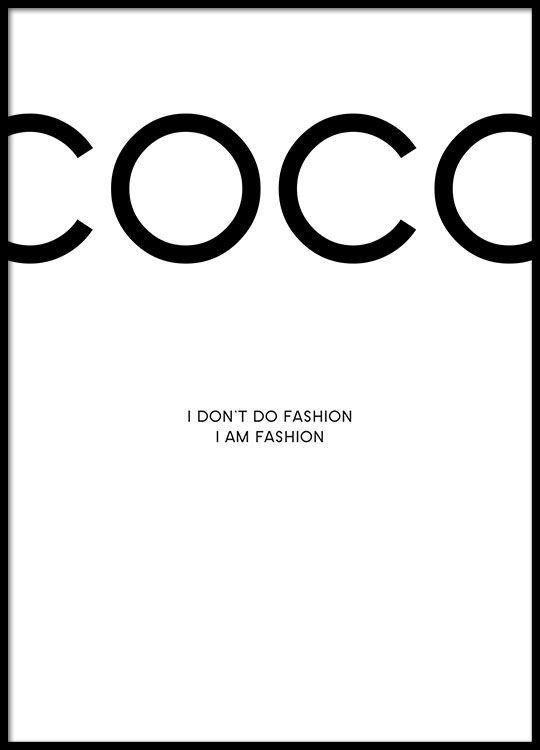 Schönes Plakat mit Chanel-Zitat.