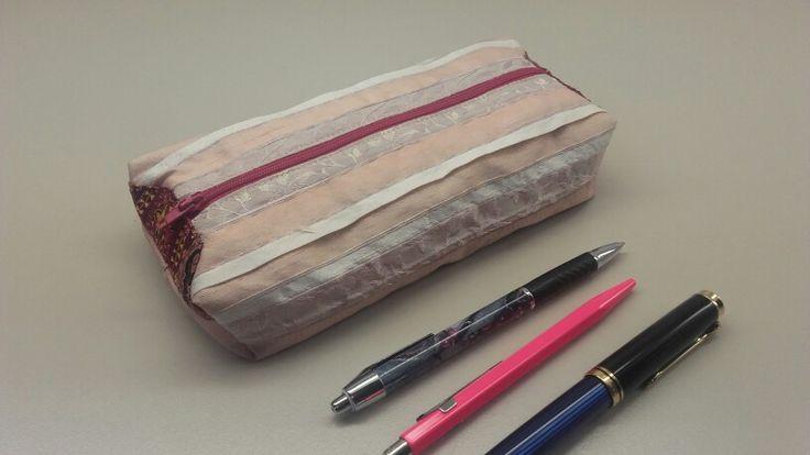 Pen Pouch, pencil case , silk fabric, cotton living For sale. $29 Interested? Sent me a personal message
