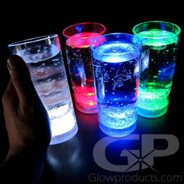 Glowing LED Tumbler Drink Glasses - A great addition to a birthday glow party! - https://glowproducts.com/us/lightedtumblerglass #GlowParty #GlowDrink