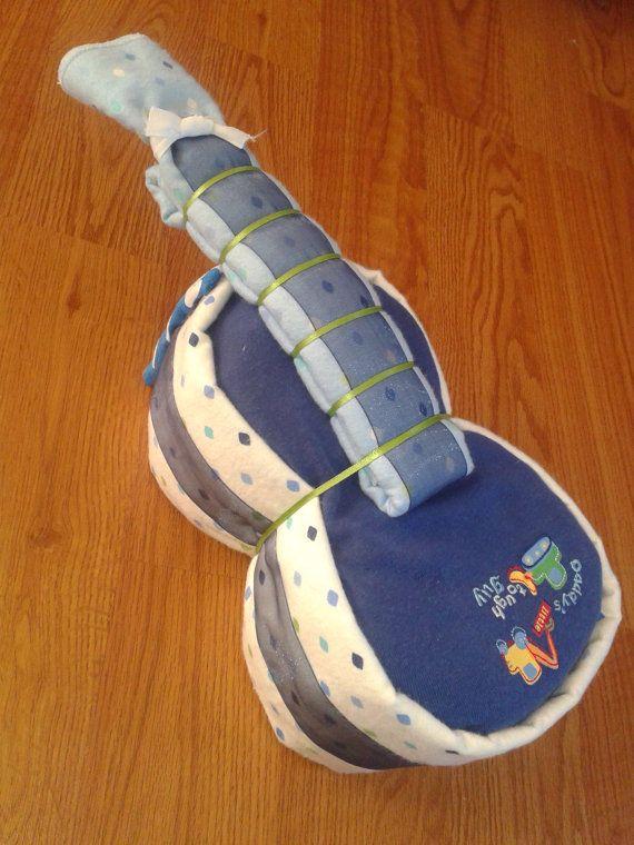 Handmade Diaper Guitar Girl Or Boy Or Neutral Many