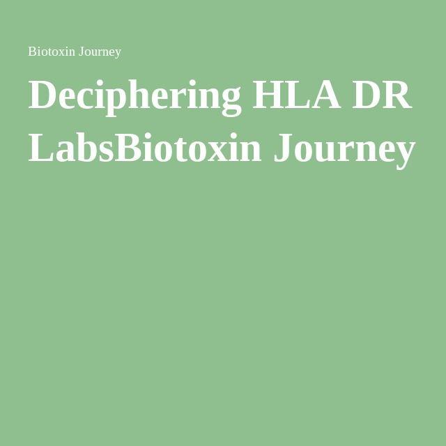 Deciphering HLA DR LabsBiotoxin Journey