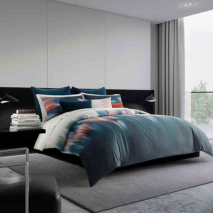 Vera Wang Blurr Bedding Collection In 2020 Reversible Duvet Covers Queen Duvet Covers King Duvet Cover