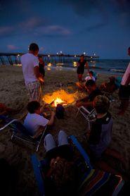 Bonfires on the beach: Beach Bonfire, Hatteras Island