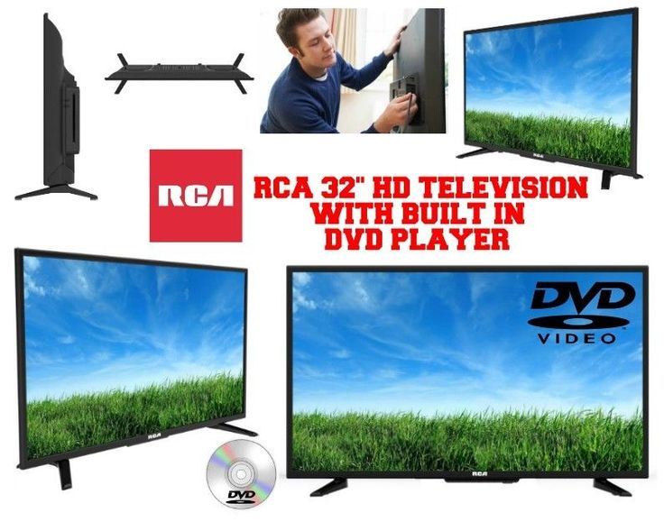 """RCA 32"""" Inch LED HD TELEVISION HDTV with Built-in DVD Player 720p HDMI 60hz  #RCA"""