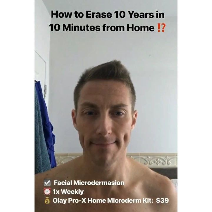Wheres that damn fountain of youth when you need it?!? . Heres a secret home tip to erase 10 years of age in 10 minutes - for under $50!