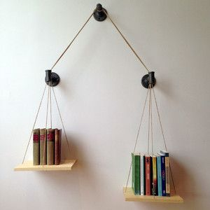 Balance Bookshelf Natural by Cush Design Studio - something I should have as a law student!