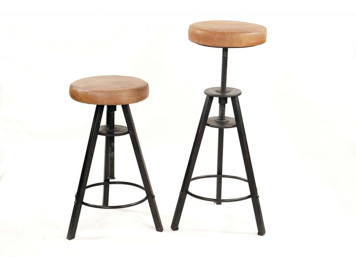 tabouret de bar landon cuir et m tal style industriel. Black Bedroom Furniture Sets. Home Design Ideas