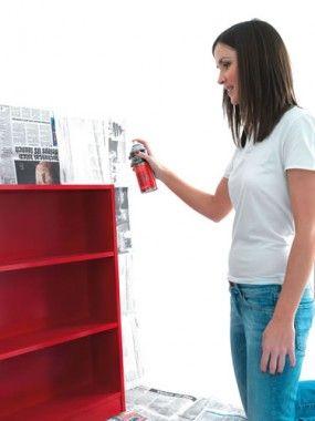 spray paint bookshelves   How-to spray paint a book shelf » Rustoleum Spray Painklnt » www ...
