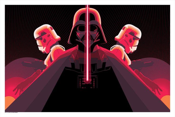 #maythe4th official print drop! 24x36 6 color silkscreen, here: http://www.darkinkart.com/star-wars/imperial-trifecta-craig-drake.html
