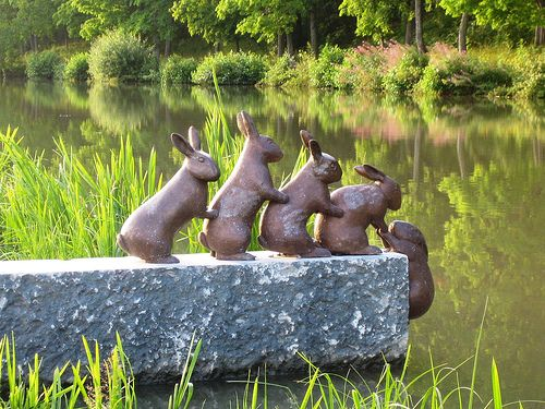 unusual rabbit sculpture  (photo said taken in Sweden)   It looks very much like…