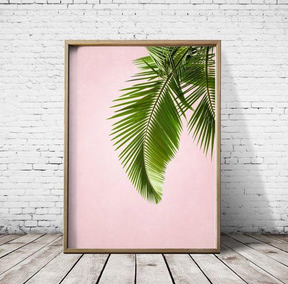 Palm Palmblätter Leaf Print Palm Print tropischen Blatt Palm Art Print Tropenpflanze drucken druckbare Kunst drucken Download