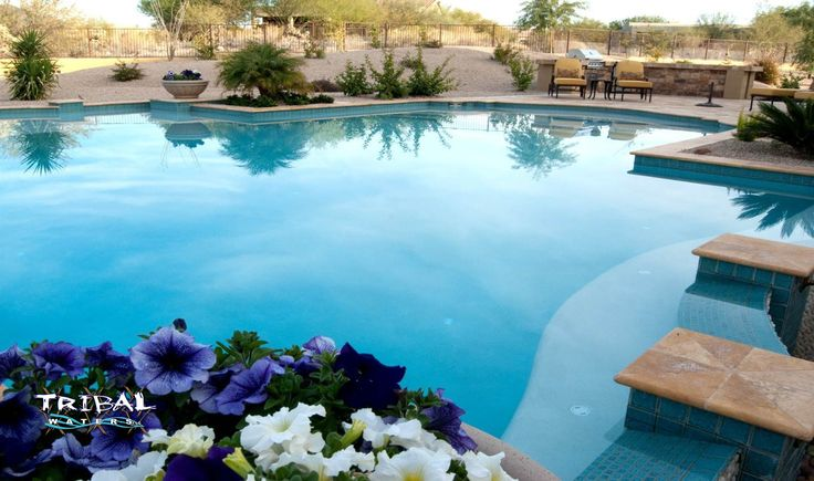 17 best images about tribal waters custom pool gallery on for Pool design phoenix