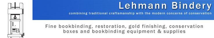 Lehmann Bindery - fine bookbinding supplies