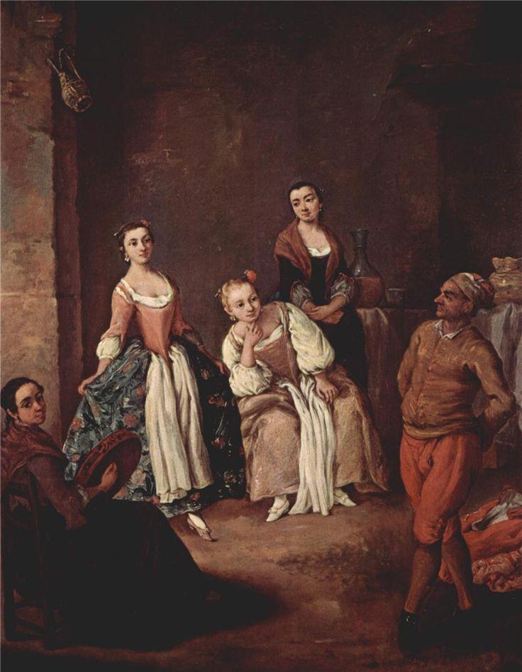 The furlana (Venetian dance) by Pietro Longhi.