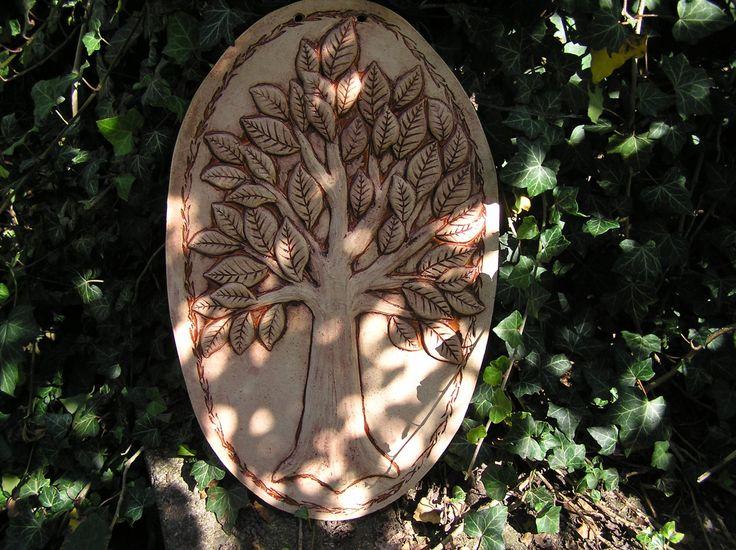 Strom+života+(na+přání)+Kachel+k+zavěšení+Rozměry:+48*29cm+Zatřeno+glazurou