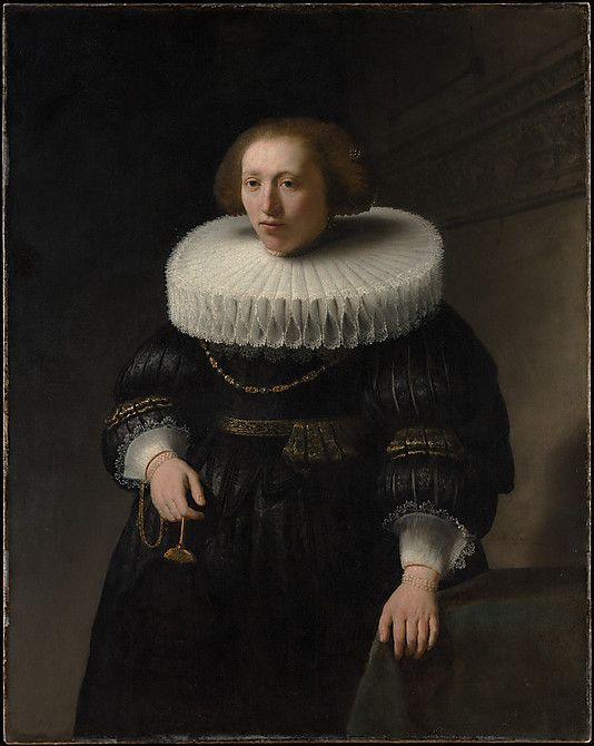 Portrait of a Woman, probably a Member of the Van Beresteyn Family  Rembrandt (Rembrandt van Rijn)  (Dutch, Leiden 1606–1669 Amsterdam)    Date:      1632  Medium:      Oil on canvas  Dimensions:      44 x 35 in. (111.8 x 88.9 cm)  Classification:      Paintings  Credit Line:      H. O. Havemeyer Collection, Bequest of Mrs. H. O. Havemeyer, 1929  Accession Number:      29.100.4    This artwork is not on display