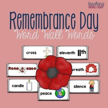 These Remembrance Day word wall words are great to post in my classroom to help kids reflect upon what they have learned in class or after an assembly. It is a great visual prompt for a variety of writing activities as there are pictures included to support a wide variety of learners.