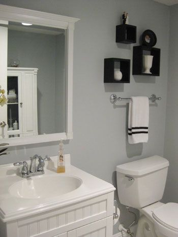Best 25 gray bathroom walls ideas that you will like on for Purple and gray bathroom ideas