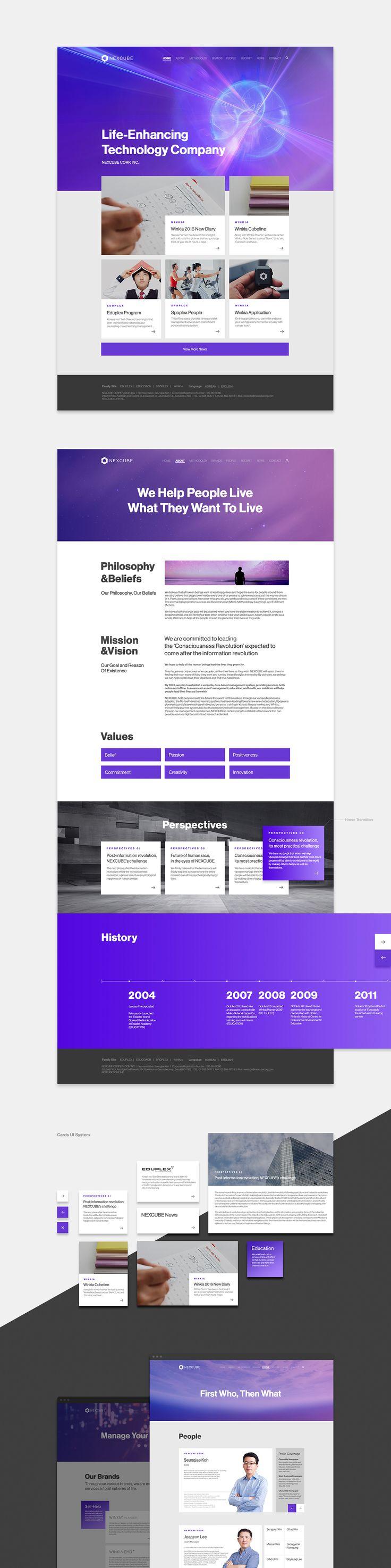 NEXCUBE | Branding & Website on Behance