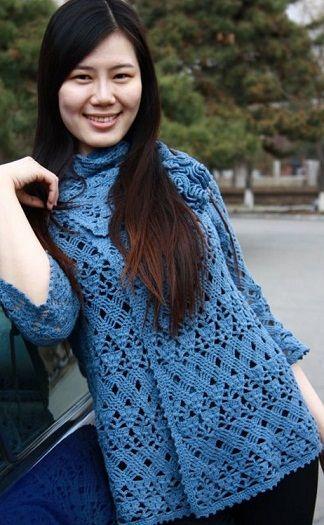 Knitting crochet jacket