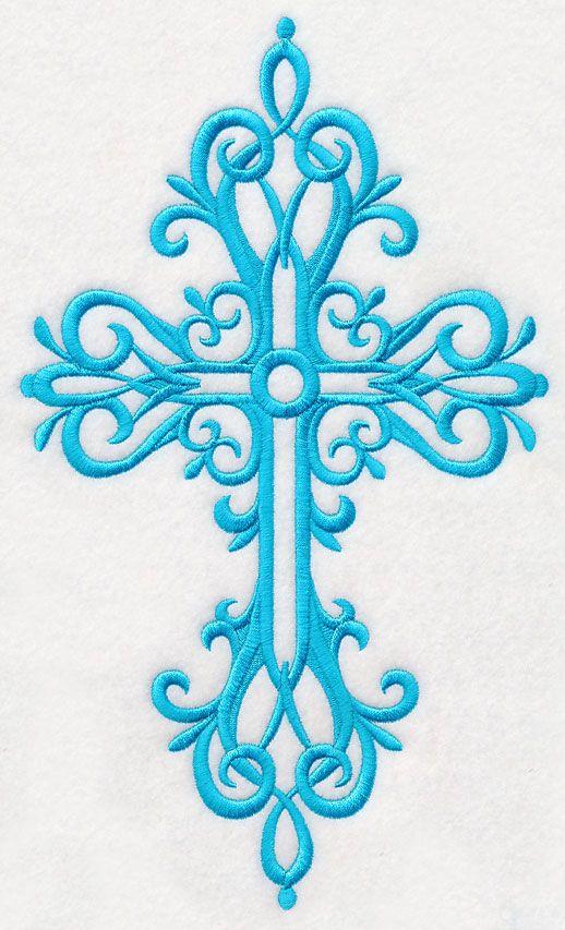 Cross in Filigree 1 design (M4309) from www.Emblibrary.com