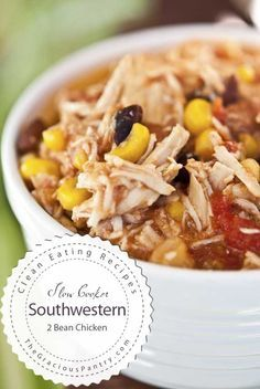 Clean Eating Slow Cooker Southwestern 2 Bean Chicken  Read more: http://www.thegraciouspantry.com/clean-eating-slow-cooker-southwestern-2-bean-chicken/#ixzz3PxnVQDQ4  © The Gracious Pantry. All rights reserved.  Follow us: @graciouspantry on Twitter | GraciousPantry on Facebook
