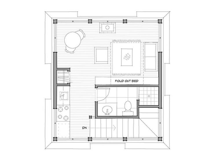 backyard cottage.  plan 1 of 2