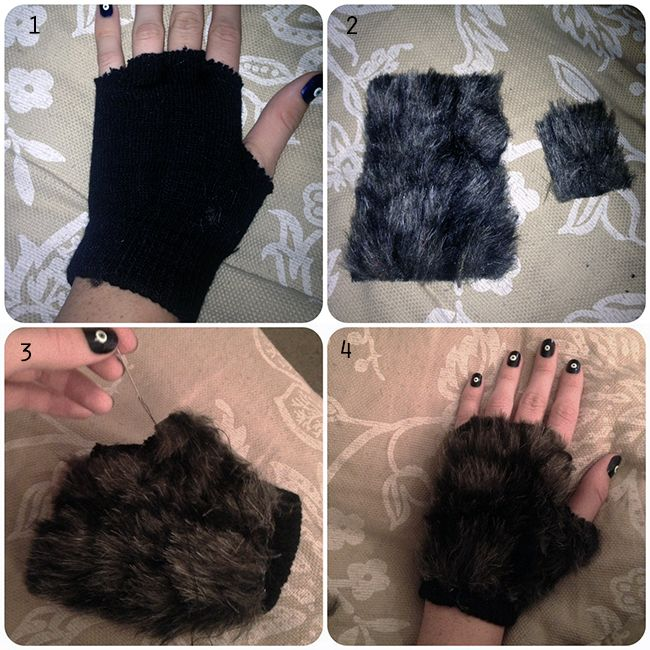 Step 1: Cut off the finger tips of your gloves.
