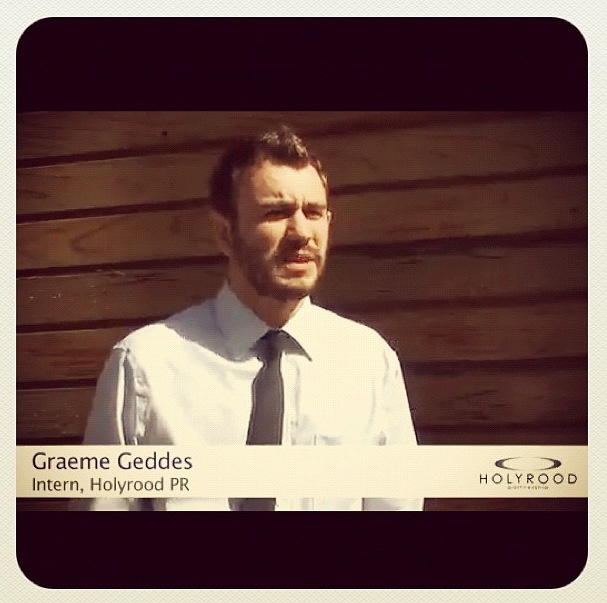 Still from my appearance on Holyrood PR TV.