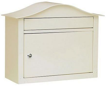 "Architectural Mailboxes Lunada Wall Mount Locking Mailbox, Sand by Architectural Mailboxes. $91.49. Optional address is sent as a separate formatted template that you can adhere onto your Mailbox.. Finishes: White (shown at left), Black, Sand, Pearl Grey, or Bronze. Incoming Mail Slot: 1.5"" High x 13"" Wide. Constructed with 14 lbs of solid Stainless Steel!. 1 year manufacturer warranty. This solid color design gives you a locking mailbox with over 14 pounds of 8 a..."