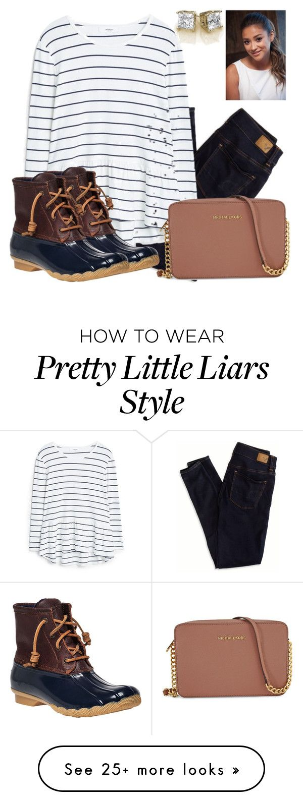 """sperry〽️"" by racheldowdd on Polyvore featuring American Eagle Outfitters, MANGO, Sperry Top-Sider and Michael Kors"