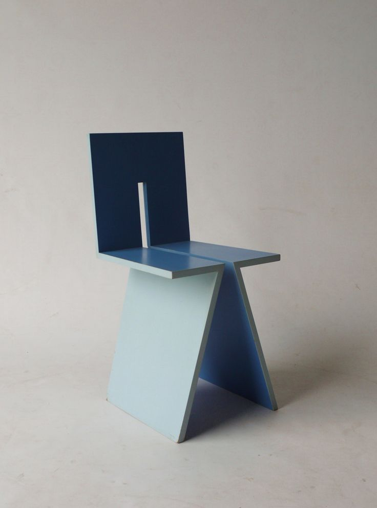 An extremely rare 1979 chair designed by Dutch architect Mart Van Schijndel. The chair was constructed from seven parts of plywood and hence named the 'zevenstoel'. Status: Sold.