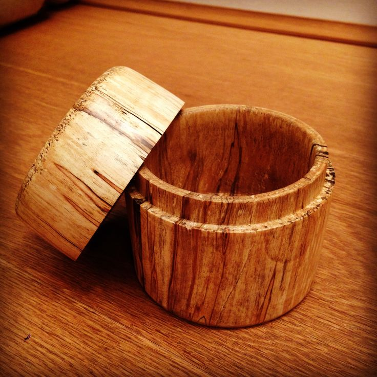 A lidded box made from Silver Birch