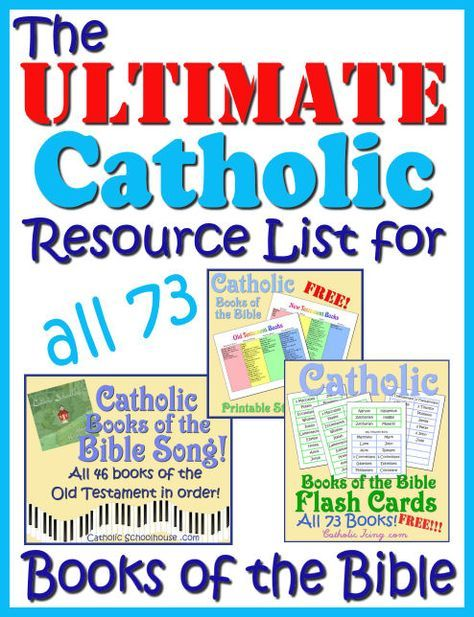 Catholic Books Of The Bible Resources For Kids- Song, Free Printables, and More!