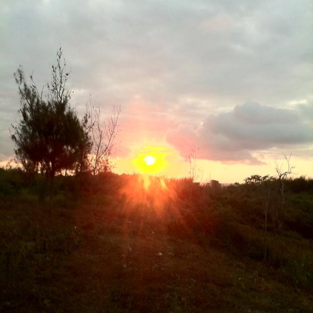 Sunset on our land in Zanzibar