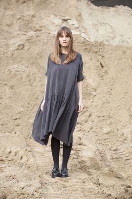 Grey dress | Adelina Ivan Studio