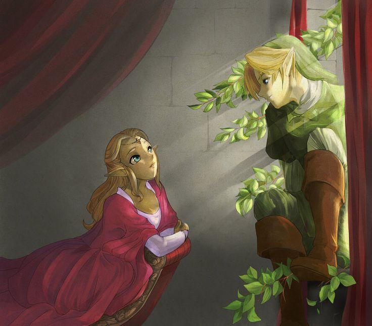 Princess Zelda And Link Love