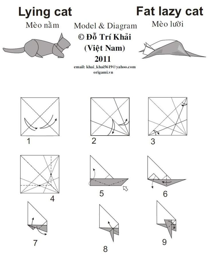 88 best origami katt images on pinterest
