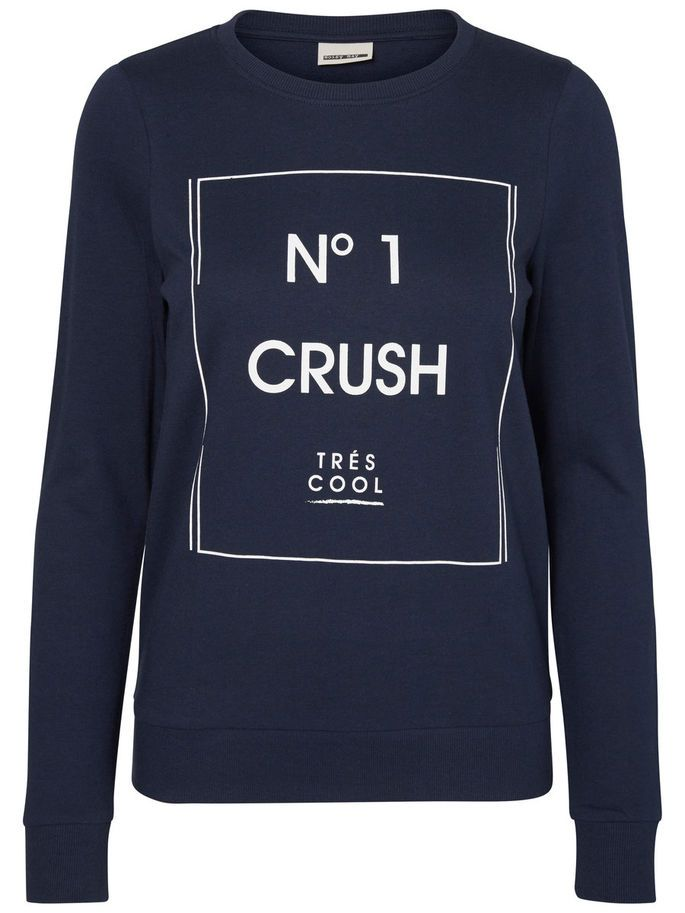 Cool No. 1 crush sweat from Noisy may. Style with jeans and sneaks.