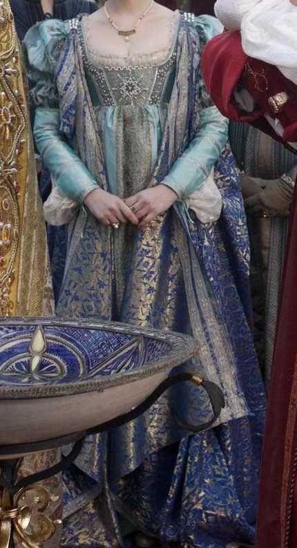 """Gorgeous Italian Renaissance dress worn by Lucrezia in """"The Borgias."""""""
