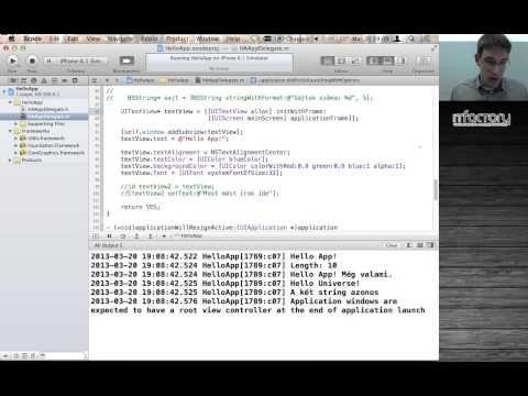 App!képzés - iOS mobilalkalmazás-fejlesztés   iOS fejlesztési és Objective-C alapismeretek (2. rész) - YouTube