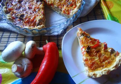 That's Eat !: TART WITH MUSHROOMS & RED PEPPER - MUSHROOM & RED PEPPER TART