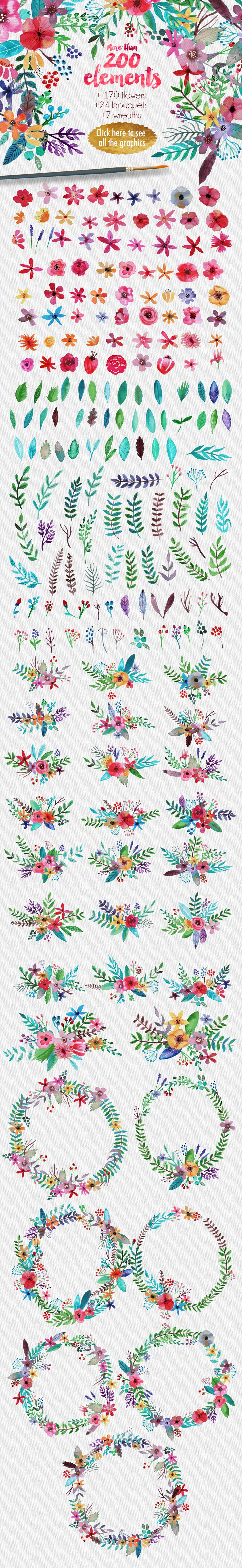 Illustrations Product Images ~ Flowertopia ~ Creative Market