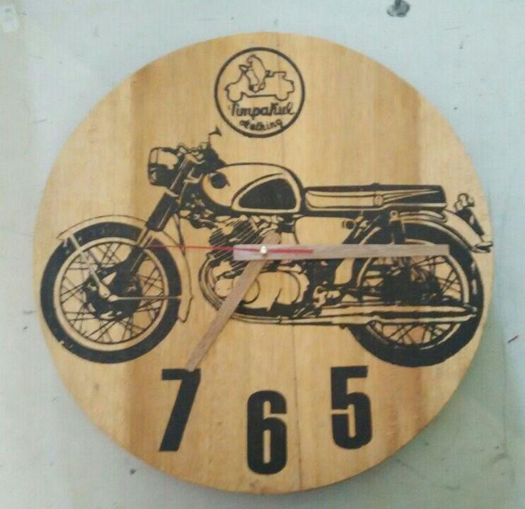 Timpakul Wood Clock Honda CB