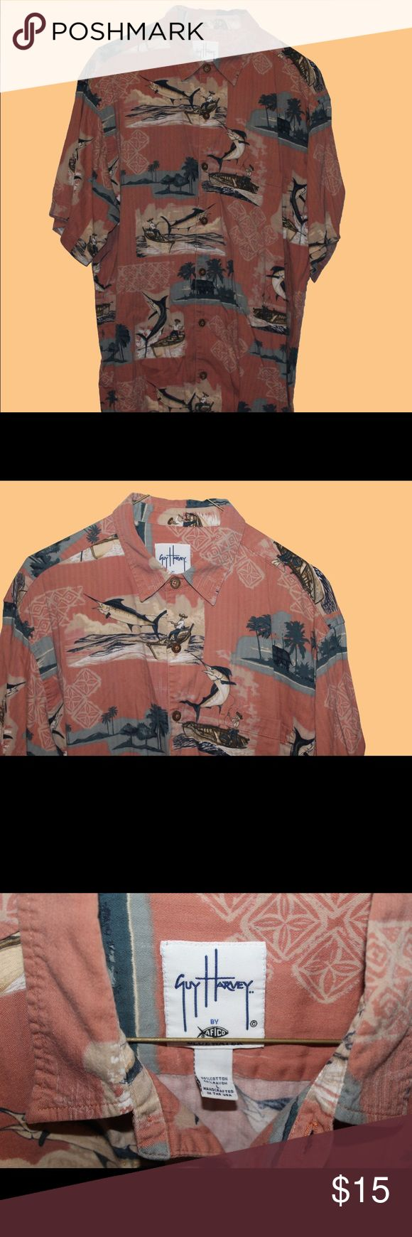 Guy Harvey Button down Tropical Guy Harvey button down. Great condition Guy Harvey Shirts Casual Button Down Shirts