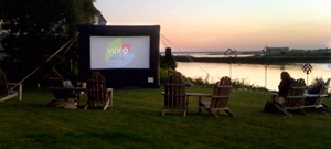 Video Creations, Kennebunk Maine INFLATABLE MOVIE SCREEN RENTAL Watch your favorite movie, play video games with your friends, catch the big game - on cable! Includes sound system, DVD player, setup & take-down. 207-985-9105 www.videocreation...