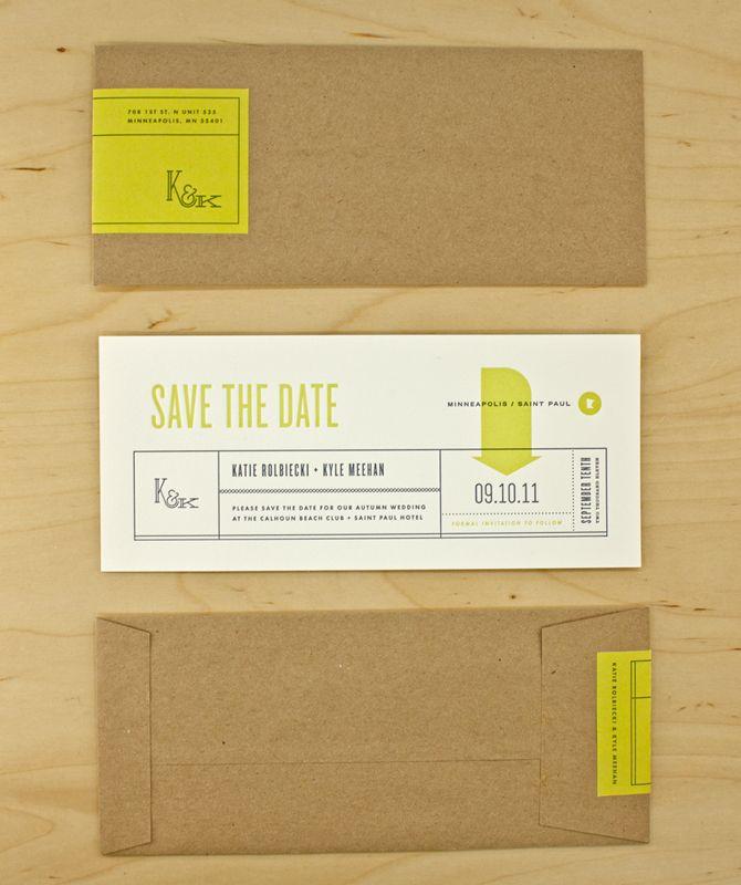 nick brue, always great stuff.: Nick Brue, Save The Date, Color, Paper Bags, Kraft Paper, Wedding Invitations, Graphics Design, Paper Envelopes, Invitations Cards