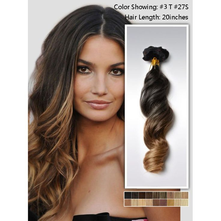 Best 25 hair extensions for short hair ideas on pinterest 6a grade hairs brazilian loose wave virgin ombre hair 2 tone remy human hair clip in pmusecretfo Choice Image